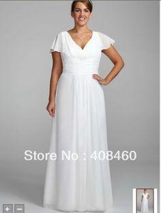simple wedding dress with/flutter sleeves | ... http://www.aliexpress.com/cp/compare-flutter-sleeve-wedding-dress.html