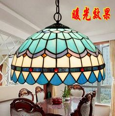 blue complex ceiling of the ancient glass simple lighting restaurant dining room living room study bedroom lighting