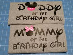 Mommy & Daddy of the Birthday Girl LONG by WestEnderleBoutique