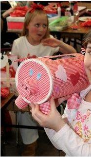 Little Pig Valentine's Treat Box