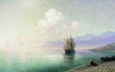 """Calm"" (1885) Ivan Aivazovsky ( Иван Айвазовский) Russia (1817-1900)"