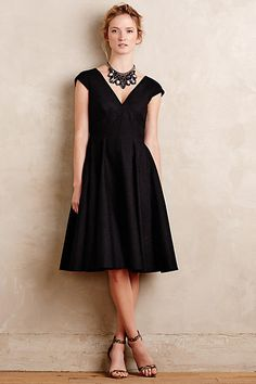 Paimpont Silk Dress - anthropologie.com  Great cut. Looks versatile like something I could wear again and accessorize differently. Classic