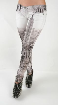 Frankie B Jeans NYC New York City Skyline Stretch My BFF Leggings Jeggings 25   eBay