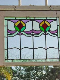 Turqoise Glass Authentic Circa 1900 WindowSun Catcher Antique Stained Glass English Church Glass Roundel Leaf sun catcher