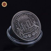 US $2.90 Round Metal Coin Unique Antique Nickel Color 1 OZ New Design 40*3mm Coin for Best Collection. Aliexpress product