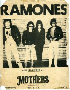 Ramones & Blondie @ Mothers. 1975