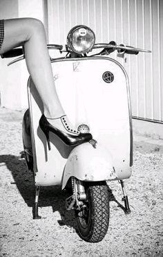Seductive vintage Vespa