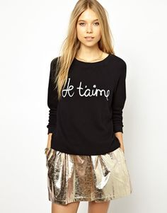 Ganni Sweatshirt with 'Je T'aime' Print