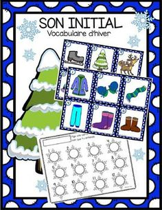 Son initial - hiver by Maternelle de Mme Nicole Weather Activities For Kids, Classroom Activities, Winter Fun, Winter Theme, Teaching French Immersion, Snowmen At Night, Sons Initiaux, French Classroom, Teaching Kindergarten