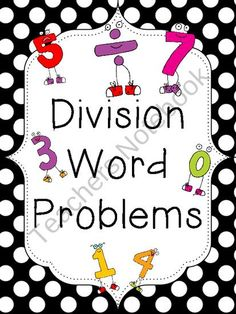 Division Word Problems: Package One product from School-Rules on TeachersNotebook.com