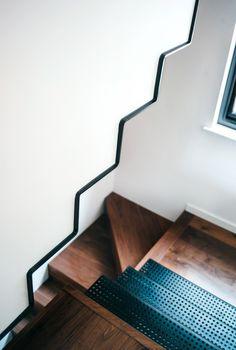 Three different stair types meet in one corner  Kirkwood McCarthy