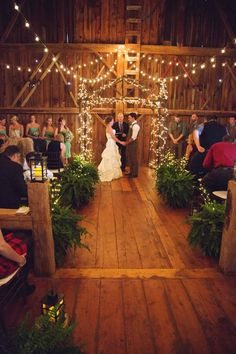 An amazing farm wedding with fun rustic wedding ideas and cute decorations.