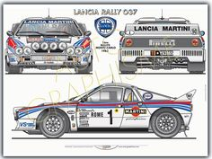 Automobiles - Gerhal272 - Lancia Rally 037 - 1ère au Rallye de Monte Carlo 1983