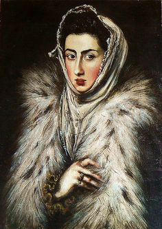Copy: El Greco - Lady in furs, for more please visit http://painting-in-oil.com/artworks-El-Greco-page-1-delta-ALL.html