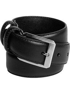 Boys - Men's Wearhouse Boys Black Leather Belt - Men's Wearhouse $15