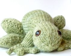 Holiday SALE Giant Knitted Frog Prince by CraftyHedgehog on Etsy, $55.00