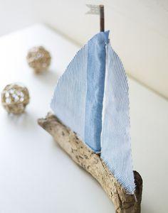 Segelboot aus Treibholz basteln - Eine Anleitung zum Nachmachen