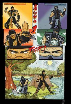 Mortal Kombat funny comic by ~GreenBBB on deviantART Art Mortal Kombat, Mortal Kombat Comics, Mortal Kombat Memes, Gamer Humor, Gaming Memes, Video Games Funny, Funny Games, Anime Meme, Kung Jin