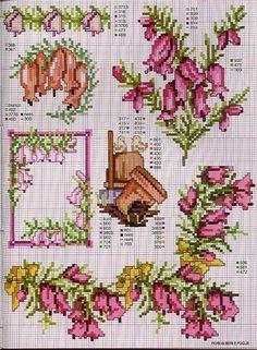 цветы схема вышивки крестом