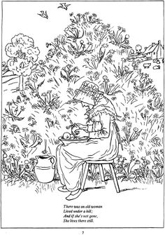Mother Goose coloring page | Coloring Pages | Pinterest | Mother goose