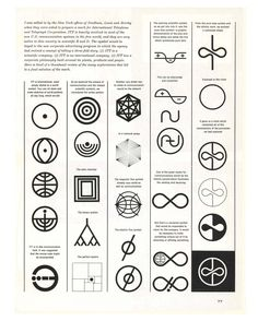 Charles Regehr, evolution of the ITT logo design, 1960s. International Telephone & Telegraph Corporation, USA.