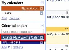 Subscribe to Our Charlotte REIA Calendar with Outlook or Google Calendar