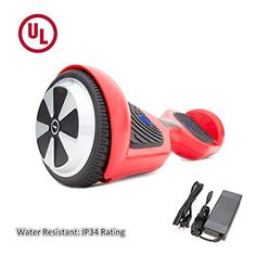 SURFUS 65 waterproof Hoverboard with Matte Shell UL 2272 Certified SelfBalancing Scooter with LED lights  Red * Learn more by visiting the image link. Note: It's an affiliate link to Amazon