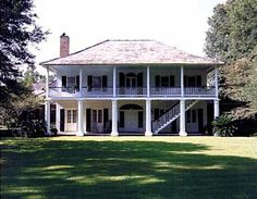 a hays town house plans Louisiana Plantations, Louisiana Homes, Lafayette Louisiana, Abandoned Plantations, Town House Plans, House Plans With Porches, Colonial House Plans, Southern Style Homes, Low Country Homes