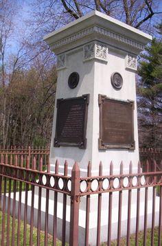 General Braddock's grave, Fort Necessity National Battlefield Park, Fayette County, Pennsylvania