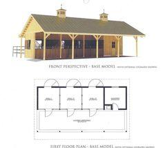 l shaped barn plans - Google Search