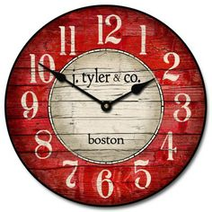 Boston Harbor Red Clock Starts At 44 For Our 12 Size And Can Be