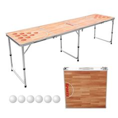 Sports Festival 8-Foot Portable Beer Table Beer Table, Beer Pong Tables, Ping Pong Table, Tailgate Table, Best Beer, Basketball Court, Storage, Briefcase, Furniture