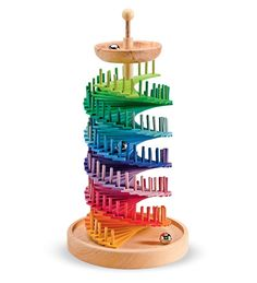 Grimm's Handcrafted Wooden Rainbow Bell Tower