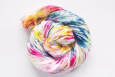 of superwash merino wool, nylon Squishy is your classic superwash sock yarn. Bright colourful tones with specks of white inspired by the mystical unicorn. Sock Yarn, Jewel Tones, Indie, Unicorn, Artisan, Colours, Wool, Kitten, Dreams