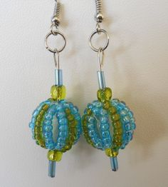 Original, Handmade Seed and Glass Beads with French Hook Wire