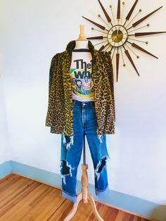 47e9aadbbd63 Vintage Leopard Jacket, Tissavel France coat, Cheetah print coat, Leopard  print coat, vintage leopard coat, leopard fur coat, faux leopard