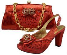 rode schoenen/handbag