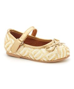 China Doll Square Gold Mary Jane by China Doll #zulily #zulilyfinds