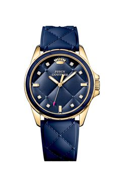 Navy Quilted Watch