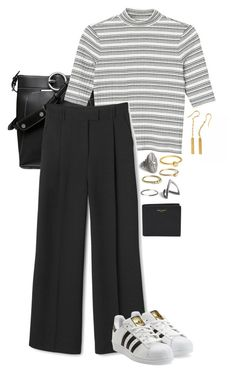 """""""Nr. 646"""" by frederikke-e ❤ liked on Polyvore featuring Monki, Mellem, Lovisa, Yves Saint Laurent, adidas Originals, women's clothing, women, female, woman and misses"""