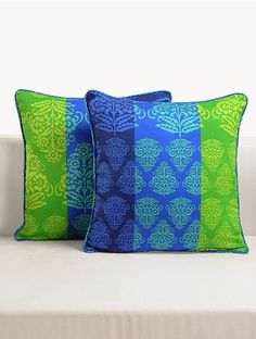 "Buy Swayam Cushion Cover Printed (Set Of 2) 12""X12"" Online, , LimeRoad"