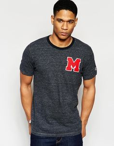 Image 1 ofFranklin and Marshall Crew Neck Varsity T-Shirt