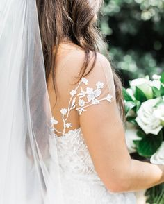 Delicate Wedding Dress Sleeve Detail with Embroidered Lace Flowers on Illusion Fabric Delicate Wedding Dress, Wedding Dress Sleeves, Wedding Gowns, Wedding Day, Barnsley Gardens, Garden Wedding Inspiration, Georgia Wedding, Lace Flowers, Embroidered Lace
