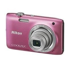 "KIT CAMARA DIGITAL NIKON COOLPIX S2800 ROSA 20.1MP ZO 5X HD LCD 2.7"" LITIO + ESTUCHE"