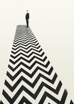 Twin Peaks Minimalist Poster Art Print by Kristjan Lyngmo | Society6