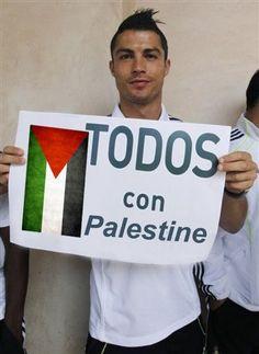 Cristiano Ronaldo sostiene la Palestina e Gaza City