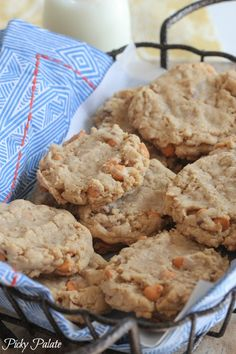 Brown Butter Oatmeal and Toffee Chip Cookies