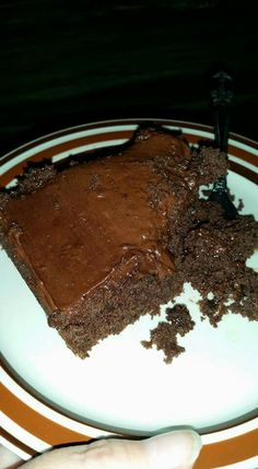 Gluten-Free Chocolate Cake, just as good as the regular version.  Love this!