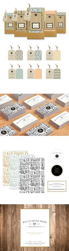 Milly's Coffee House on Behance