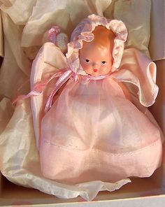 Nice Nancy Ann Storybook Hush A Bye Baby Doll All Bisque Original Box